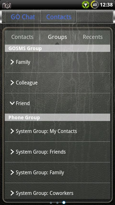 Glass GO SMS Theme- screenshot