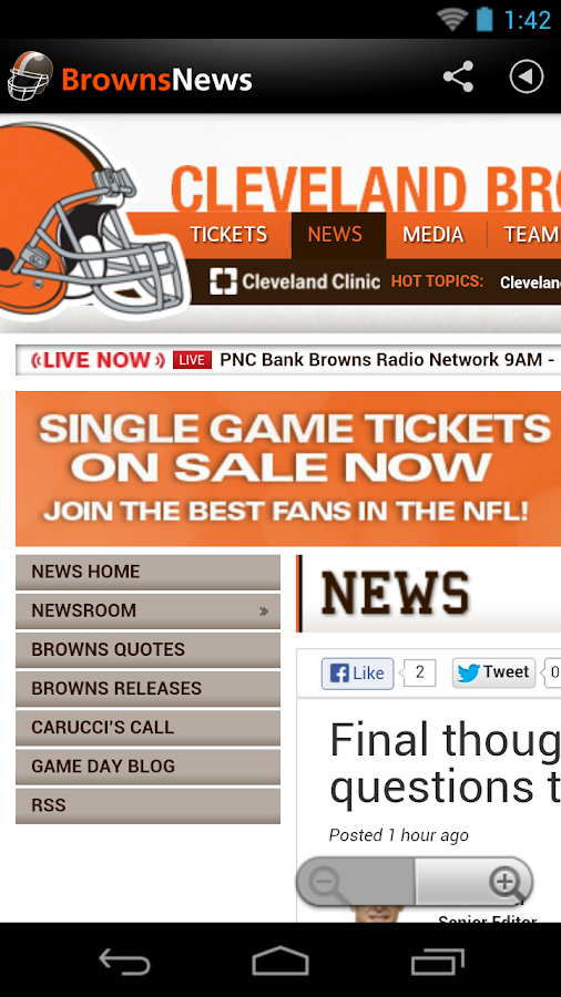Browns News - screenshot