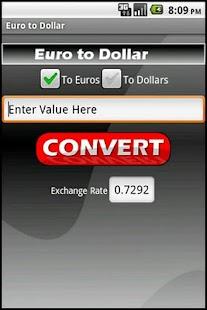 Euro to Dollar- screenshot thumbnail