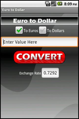 Euro to Dollar- screenshot