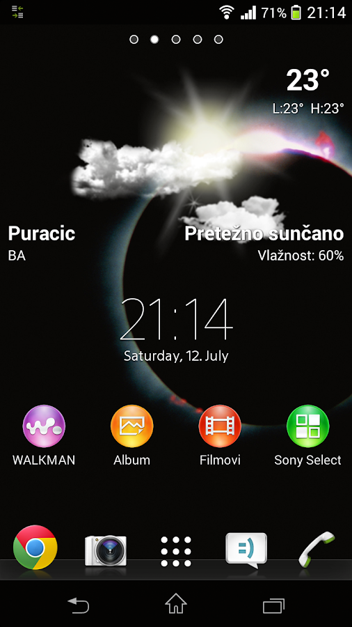 Lockscreen Weather Widget- screenshot