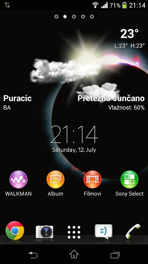 Lockscreen Weather Widget - screenshot