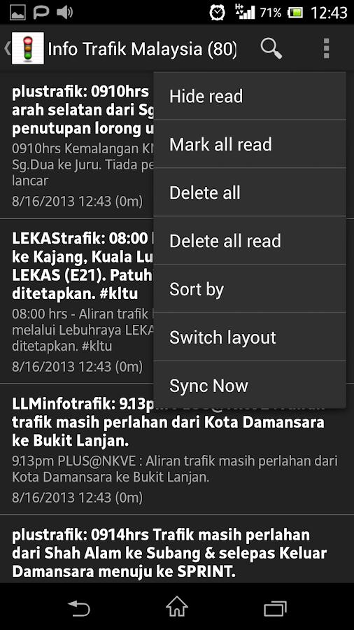 Trafik Malaysia Traffic- screenshot
