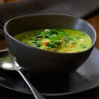Curry and Coconut Milk Soup.
