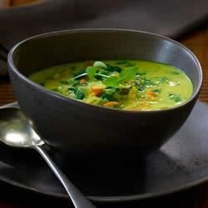Curry and Coconut Milk Soup Recipe