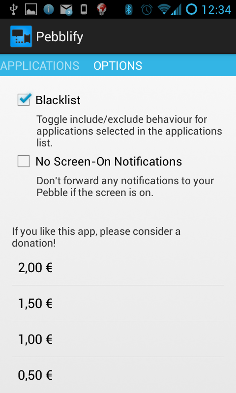 Pebblify - screenshot