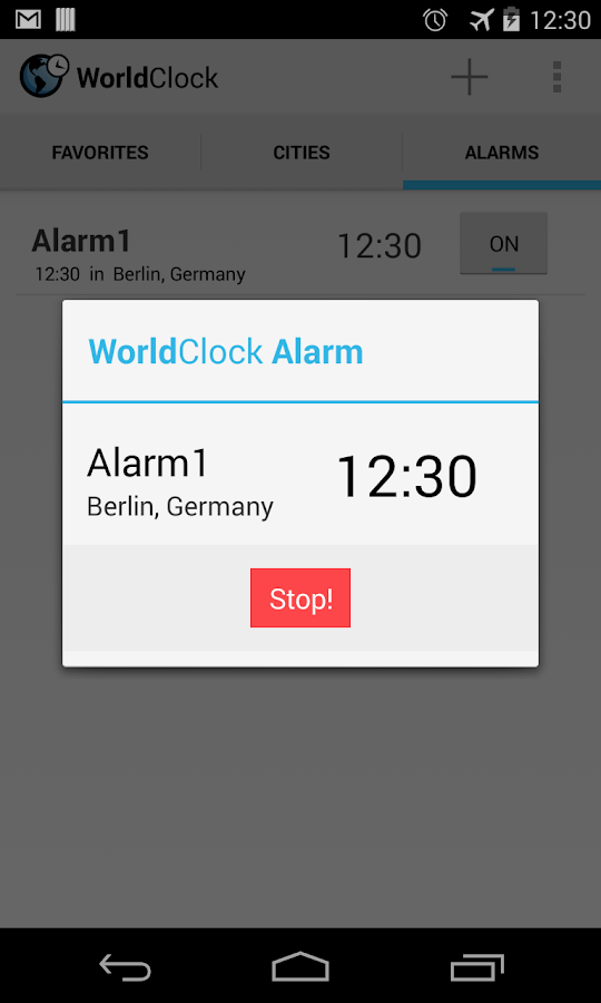 World Clock - screenshot