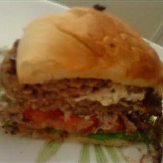 Herb and Goat Cheese Stuffed Lamb Burgers Recipe