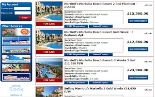 Screenshot of The Timeshare Resales App