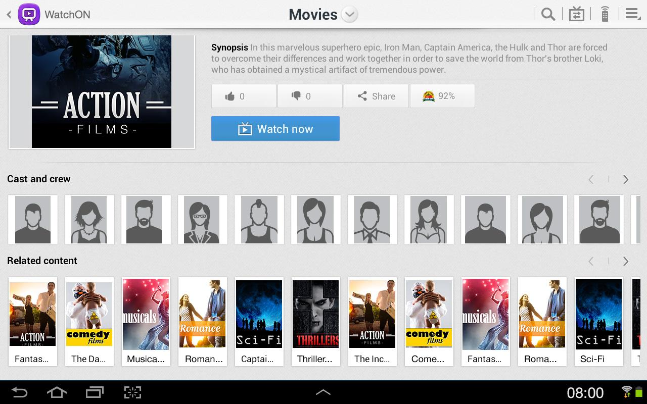 Samsung WatchON (Tablets) - screenshot