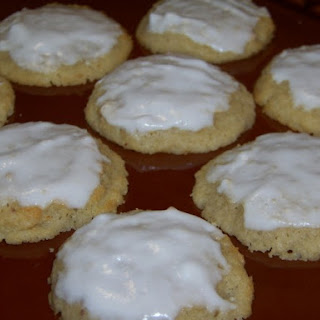 Frosted Ricotta Almond Cookies.