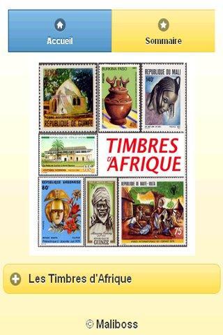 Timbres d'Afrique- screenshot