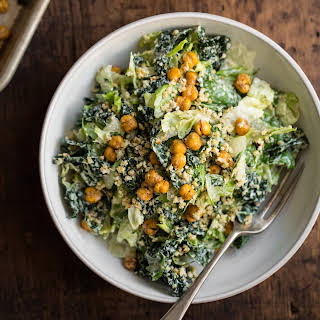 Crowd-Pleasing Vegan Caesar Salad.