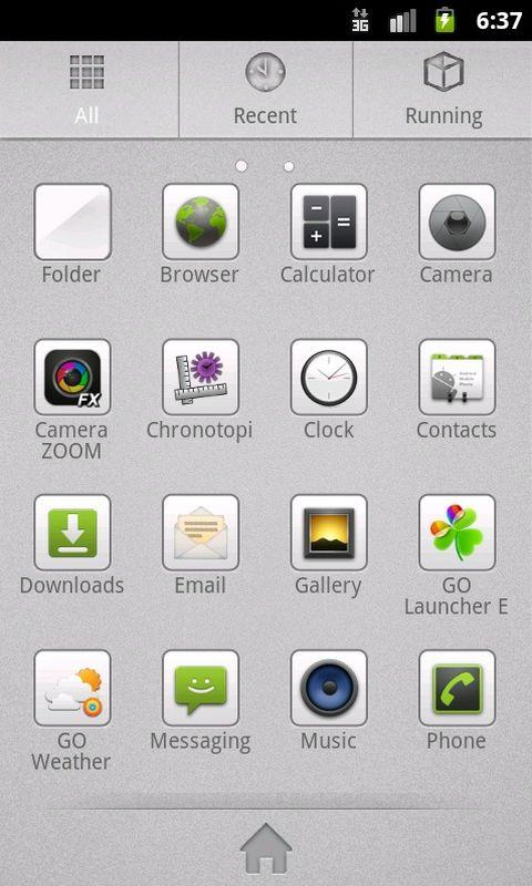 GO Launcher EX Theme Grey- screenshot