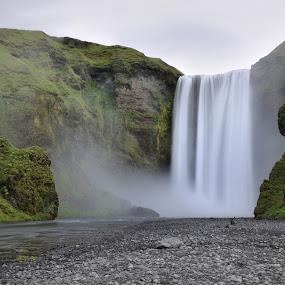 Waterfall Skogarfoss by Silva Predalič - Landscapes Waterscapes ( iceland, waterscape, waterfall, waterdrops, landscape, nikon d7000, , relax, tranquil, relaxing, tranquility )
