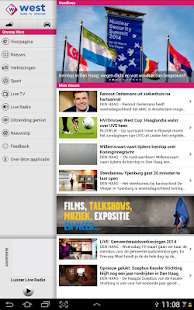 Omroep West Tablet - screenshot thumbnail