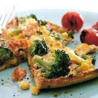 Salmon Frittata with Broccoli.