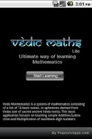 Screenshot of Vedic Maths
