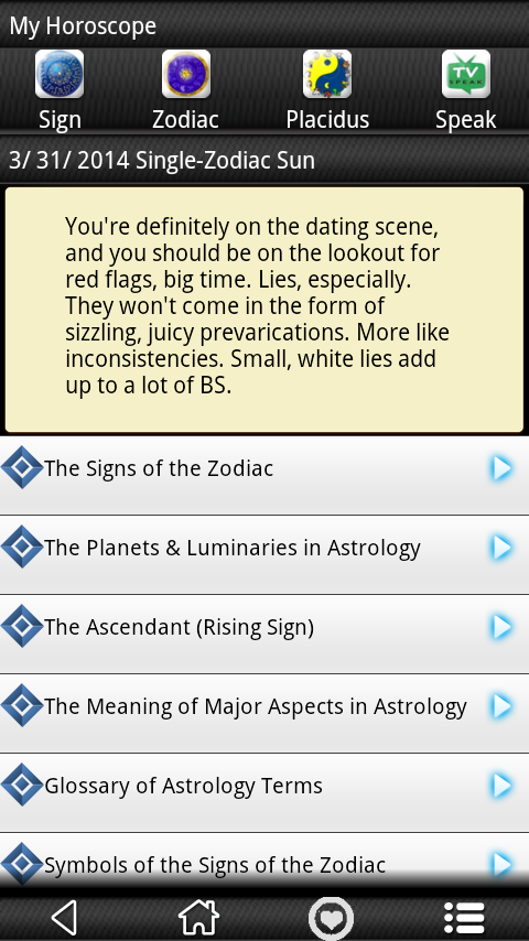 Daily Libra Horoscope 2014 - screenshot