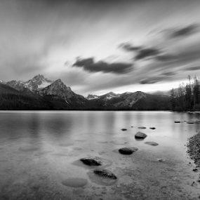 Stanley Lake by Lisa Kidd - Landscapes Mountains & Hills ( clouds, water, idaho, mountains, lake )