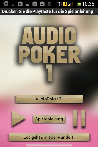 AudioPoker 1 - Pokertraining