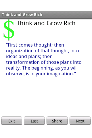Think and Grow Rich - screenshot