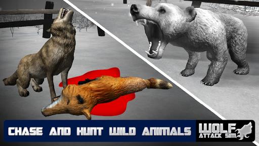 ウルフ攻撃シムの3D - Wild Game