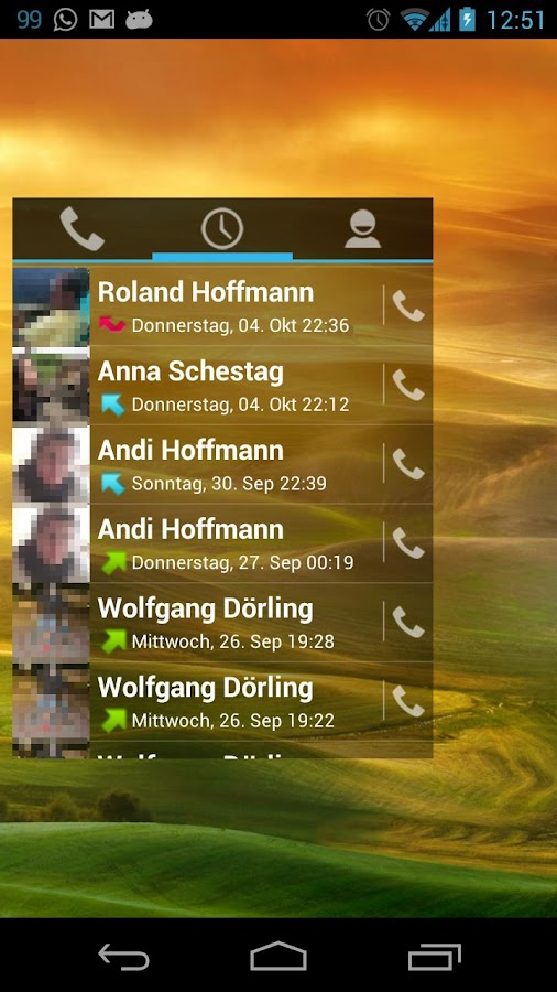 Simple Dialer Widget- screenshot