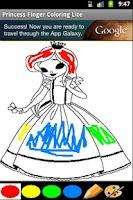 Screenshot of Finger Painting - Princess