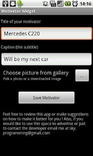 Motivator Widget- screenshot thumbnail