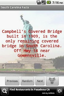 South Carolina Facts - screenshot thumbnail