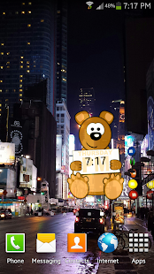 Bear Clock Widget Cute