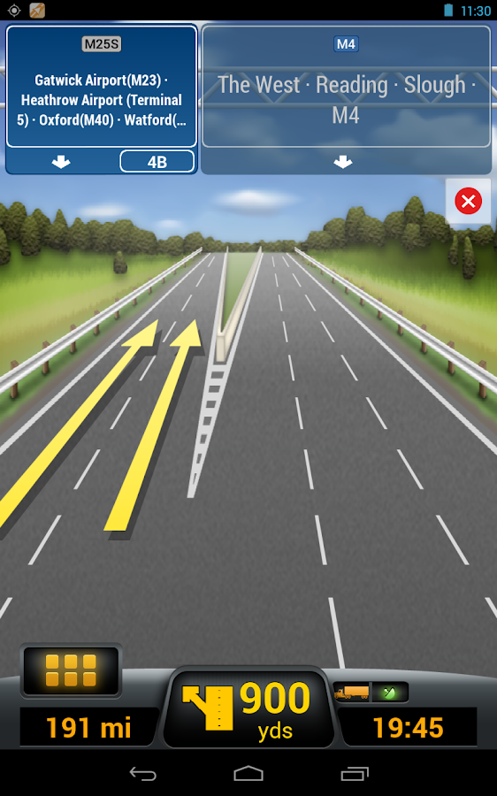 CoPilot Truck Europe Region- screenshot