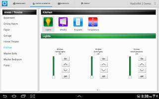Screenshot of Lutron Home+