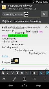 K-@ Mail Pro - email evolved - screenshot thumbnail