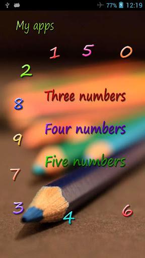 Children memory numbers