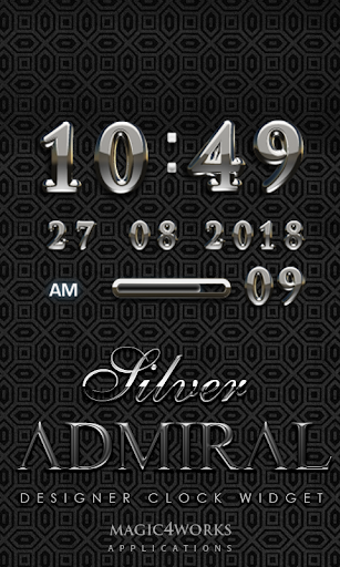 Silver Admiral Digital Clock