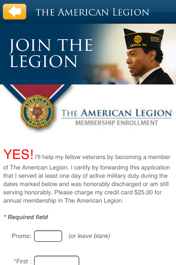 The American Legion- screenshot