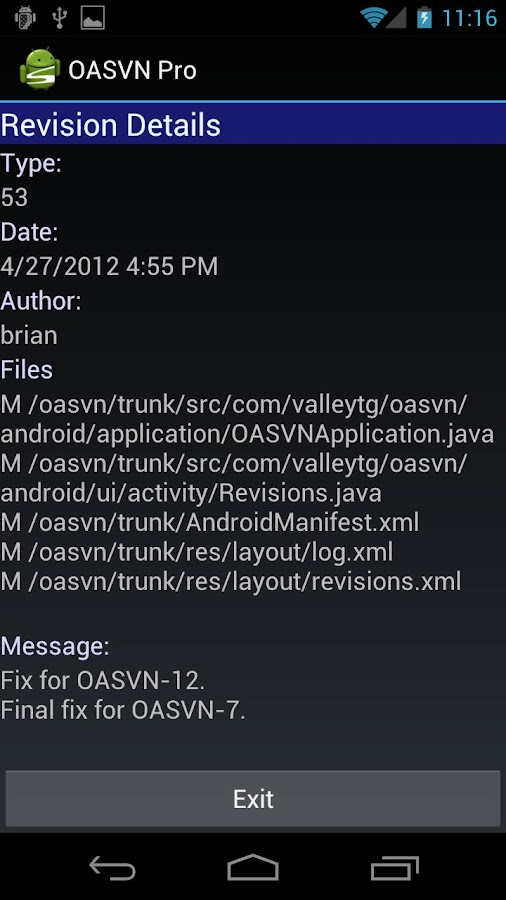 Open Android SVN (OASVN)- screenshot
