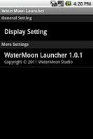 Screenshot of WaterMoon Launcher