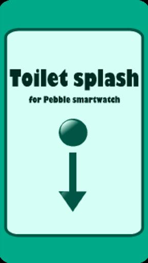 Toilet flush for Pebble