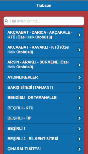 Trabzon Otobüs Tarifesi