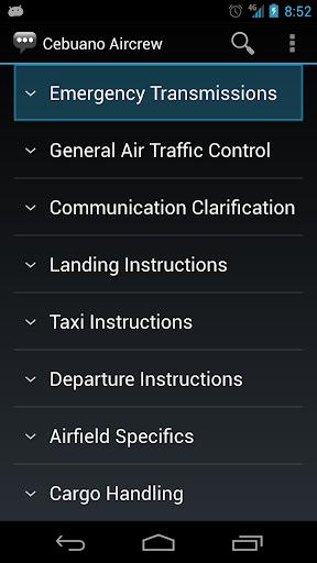 Cebuano Aircrew Phrases