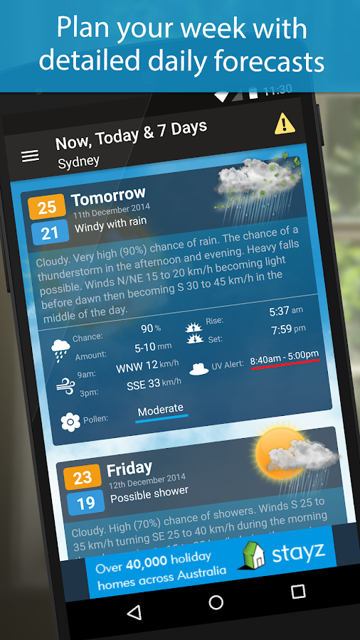 Weatherzone- screenshot