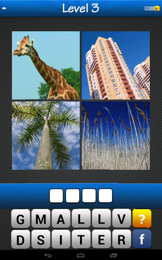 Guess the word ~ 4 pics 1 word- screenshot
