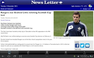Screenshot of News Letter
