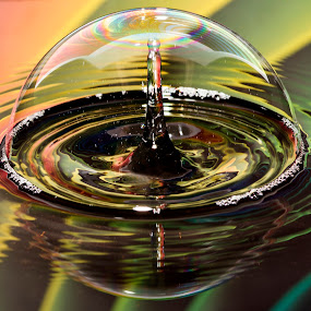 Rainbow in your eyes by Ari Wid - Abstract Water Drops & Splashes