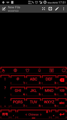 Keyboard Theme Neon 2 Red for PC