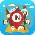 India travel guide offline map icon