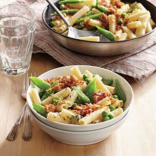 Two-Pea Pasta with Bacon Breadcrumbs